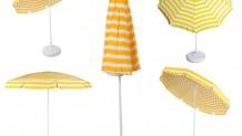 Plaj Şemsiyesi Sarı Beyaz