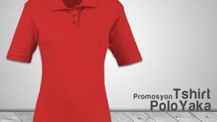 Polo Yaka Bayan Tshirt Kırmızı