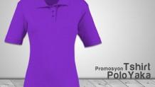 Polo Yaka Bayan T-Shirt Lila