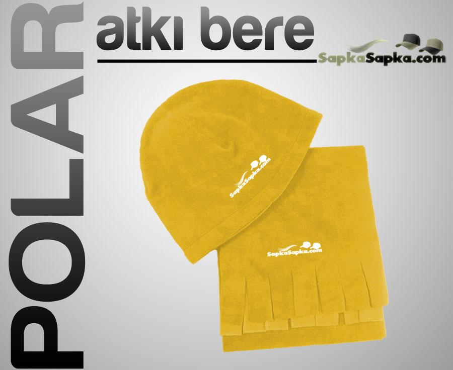 Sarı Polar Atkı Bere